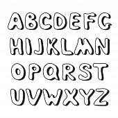 Doodle hand drawn alphabet