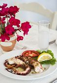 grilled octopus ouzo