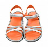 Pair Of Summer Sandals. Front View.