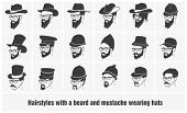 hairstyles with a beard and mustache wearing glasses wearing hats