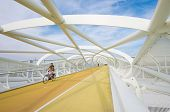 Modern Bicycle And Footbridge