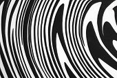 Black And White Fabric With  Swirl Or Zebra Pattern