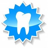 Tooth blue icon