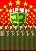 23 February. Defenders day. A military choir with Fireworks. 9 May. The soldiers sing. A Russian hol