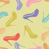 pattern ladies shoes