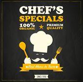 Restaurant chef's specials chalkboard design