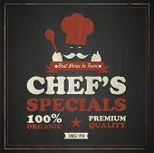 Cook chef vintage poster