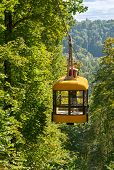 stock photo of ropeway  - The Ropeway across the river Gauja Latvia