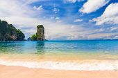 Beautiful Landscape With Rocks And Sea In Krabi