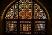 Windows inside Kashan palace