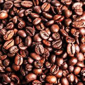 Roasted Coffee Beans, Can Be Used As A Background. Closeup, Macro.