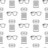 Vector Pattern Of Smart Devices On White Background