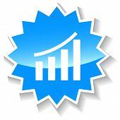 New graph blue icon