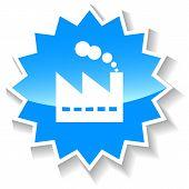 pic of starburst  - Manufacturing Plant web blue starburst icon on a white background - JPG