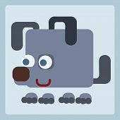 Dog Stylized Icon Symbol