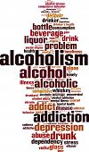 foto of ethanol  - Alcoholism Word Cloud Concept - JPG