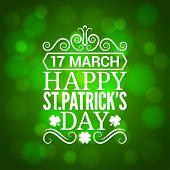 Patrick day sign design background