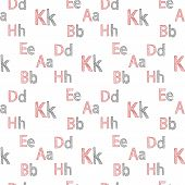 Vector seamless pattern of English alphabet