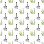 bottles and glasses pattern