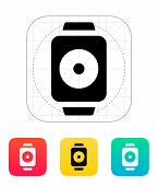 Remote controller on smart watch icon.