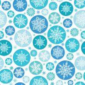 Round Snowflakes Seamless Pattern Background