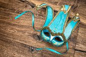 image of harlequin  - Blue carnival mask harlequin - JPG