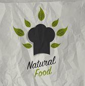 Vintage natural food poster design