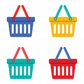 Colorful Shopping Basket.