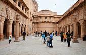 Jodhpur, India - January 1, 2015: Tourist Visit Umaid Bhawan Palace In Jodhpur