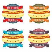 Hotdog Bun Label Set.
