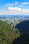 image of italian alps  - Mountain landscape from Monte grappa Italy Italian alps - JPG
