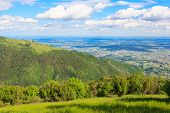 foto of italian alps  - Mountain landscape from Monte grappa Italy Italian alps - JPG