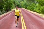 picture of sprinters  - Running man runner sprinting for fitness and health - JPG