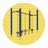 stock photo of amusement  - Amusement Park Facilities Theme Elements - JPG