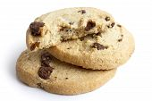 pic of shortbread  - Isolated round chocolate chip shortbread biscuits - JPG