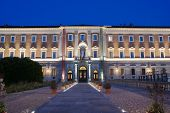 image of turin  - Facede of Sabauda Gallery in Turin by nigth, Italy ** Note: Soft Focus at 100%, best at smaller sizes - JPG