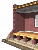 picture of soffit  - Cross section of brick house - JPG