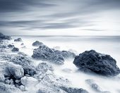 image of crimea  - sea coats and sky in Crimea beach in Crimea - JPG