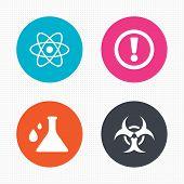 pic of biohazard symbol  - Circle buttons - JPG