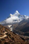 Ama Dablam views on Everest trek.