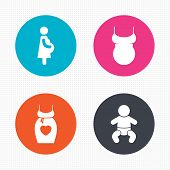 stock photo of maternity  - Circle buttons - JPG