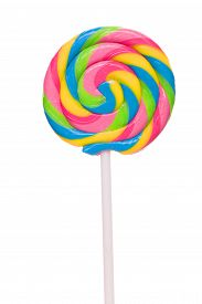 stock photo of lollipops  - Lollipop candy isolated on white background - JPG