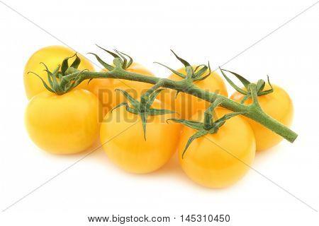 fresh yellow tasty tom tomatoes