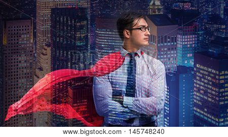 Man with red cover in