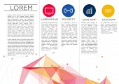 Trifold Brochure Template Design in DL Size | EPS10 Vector poster