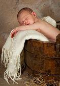 Bebé en un barril