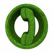 Phone Symbol In Grass