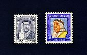 Two used postage stamps from Kuwait