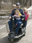 Wheelchair Ride With Grandpa