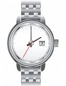Stainless wristwatch